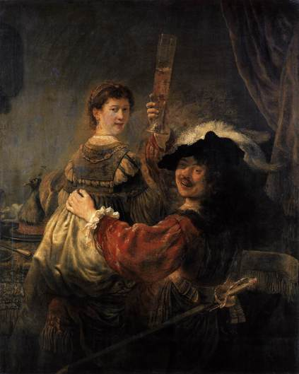 Rembrandt - Rembrandt and Saskia in the Scene of the Prodigal Son in the Tavern.