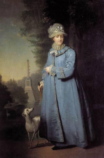 Vladimir Borovikovsky - Catherine II in Tsarskoe Selo