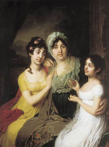 Vladimir Borovikovsky - Portrait Of Countess A I Bezborodko With Her Daughters