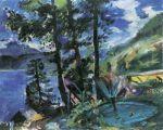 Lovis Corinth - Walchensee mit Springbrunnen