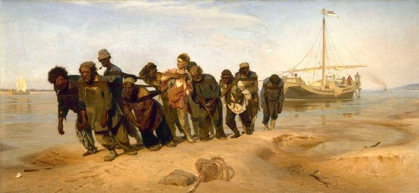Ilia Repin - Barge Haulers on the Volga