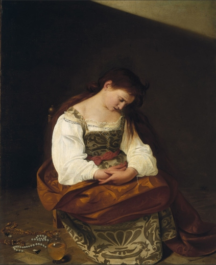 Caravaggio - The penitent Mary Magdalen (c. 1598)