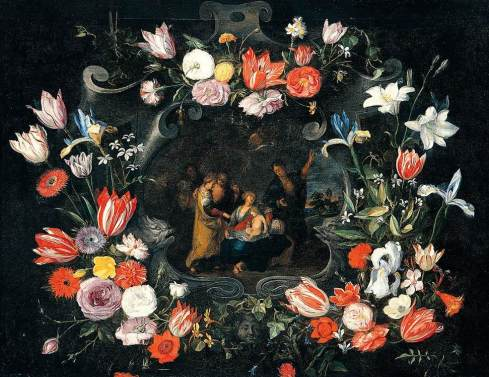 Jan Brueghel the Younger - Still-Life of the Holy Kinship