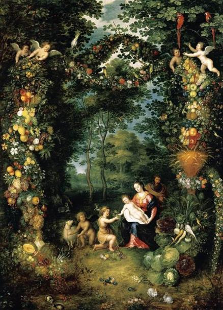 Jan Brueghel the Younger - The Holy Family with St John