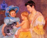 Mary Cassatt - Children Playing with a Cat 1908