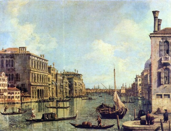 Canaletto - Grand Canal, Looking East from the Campo San Vio, day