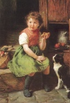 Felix Schlesinger - Girl with cat