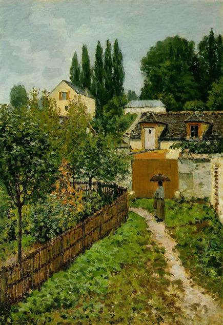 Alfred Sisley - Garden Path in Louveciennes