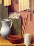 Georg Schrimpf - Nature morte au chat