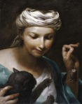 Giuseppe Maria Crespi - Girl with a cat