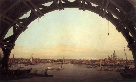 Canaletto - London- Seen Through an Arch of Westminster Bridge