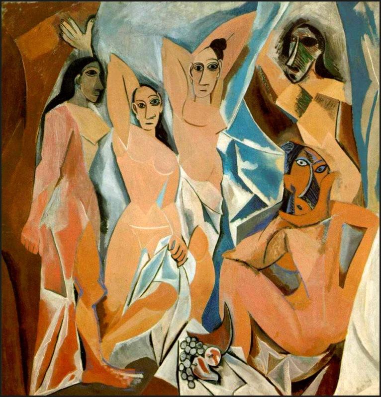 Pablo Picasso-Les Demoiselles d'Avignon, 1907
