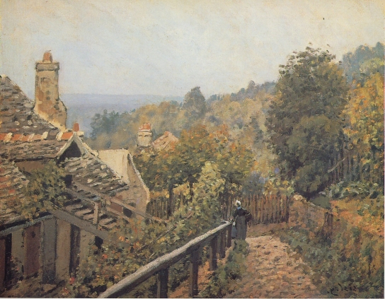 Alfred Sisley - Sentier de la Mi-cote, Louveciennes