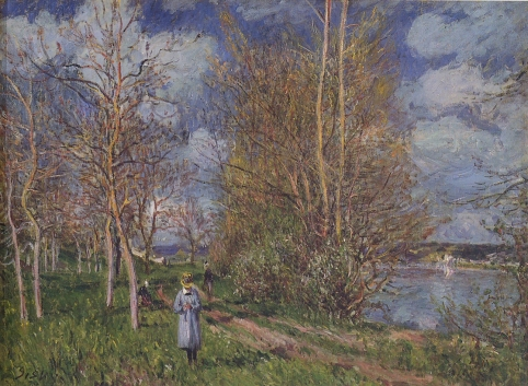 Alfred Sisley - Small Meadows in Spring
