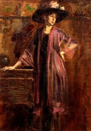 Nicolae Vermont - Femeie cu Palarie