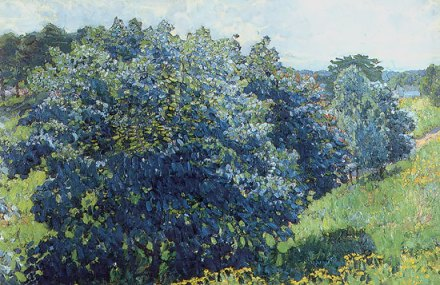 Konstantin Yuon - Blue bush
