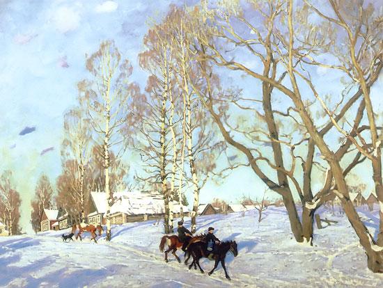 Konstantin Yuon - March Sun, 1915