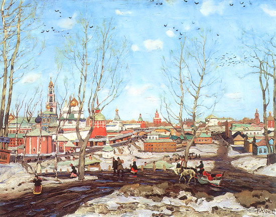 Konstantin Yuon - Spring in the Trinity Monastery, 1911