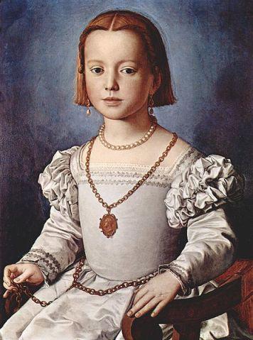 Agnolo Bronzino - A portrait of Bia de Medici