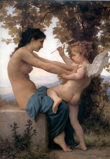 William-Adolphe Bouguereau – A Young Girl Defending Herself Against Eros
