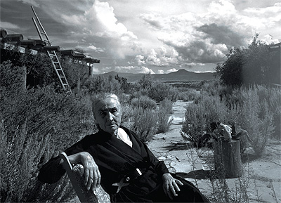 Arnold Newman, O'Keeffe sitting at Ghost Ranch