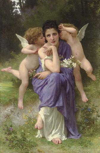 William-Adolphe Bouguereau – Chansons de printemps