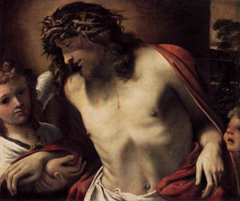 Christ Wearing the Crown of Thorns, Supported by Angels