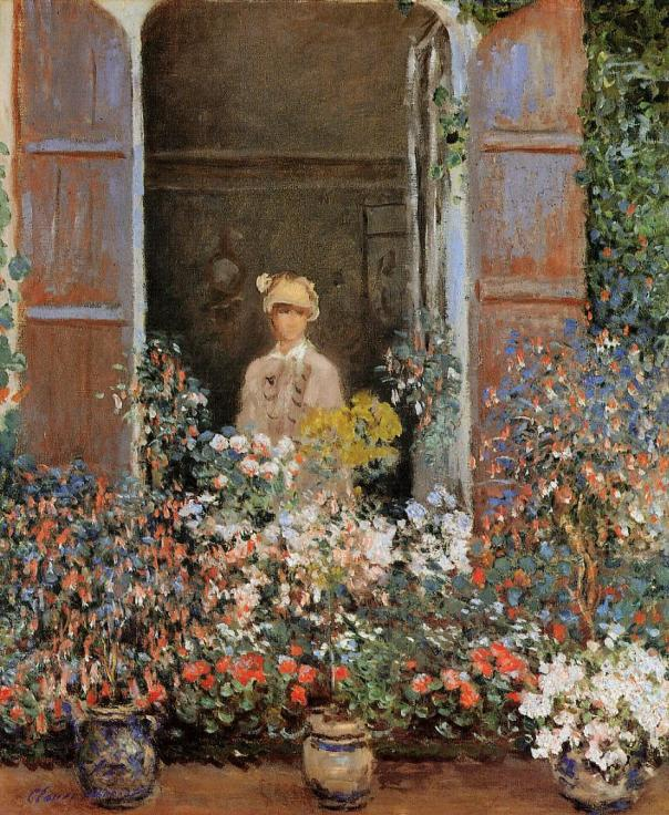 Claude Monet - Camille Monet at the Window, Argentuile, 1873