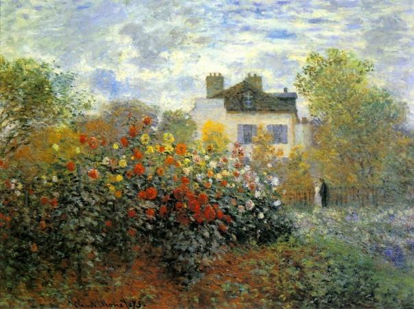 Claude Monet - The Garden of Monet at Argenteuil, 1873