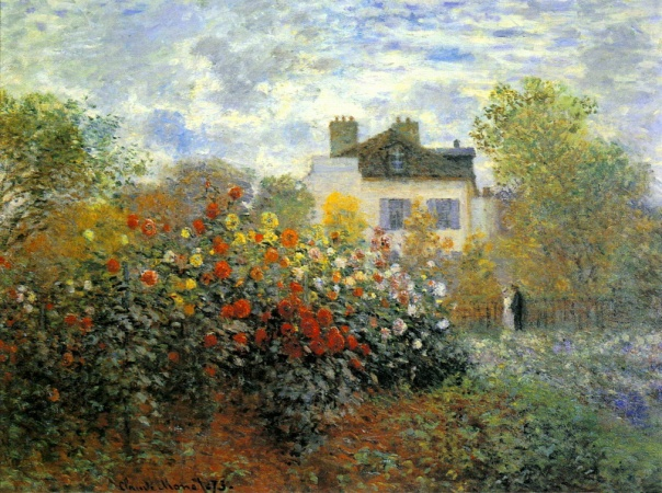 Claude Monet - The Garden of Monet at Argenteuil, 1873