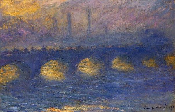 Claude Monet - Waterloo Bridge, Overcast Weather
