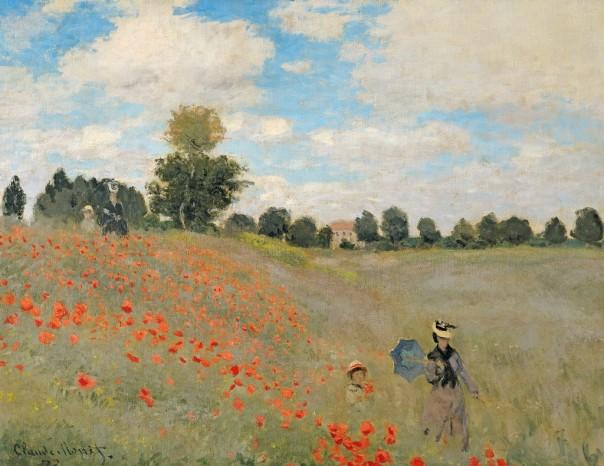 Claude Monet - Wild Poppies, near Argenteuil