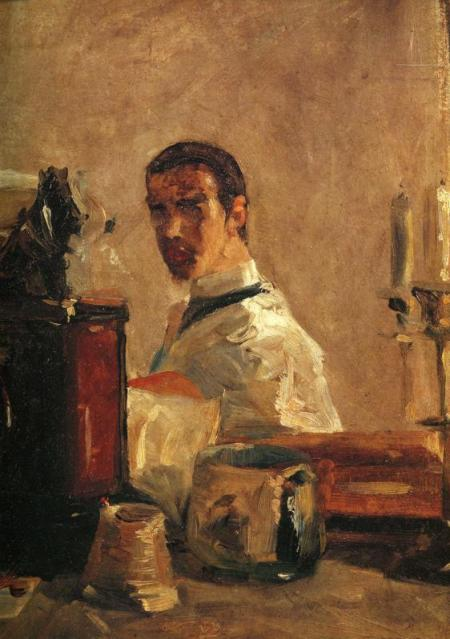 Henri de Toulouse-Lautrec - Self Portrait in front of a Mirror