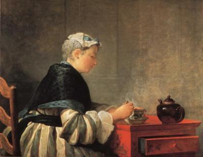 Jean-Baptiste-Siméon Chardin - Lady Taking Tea