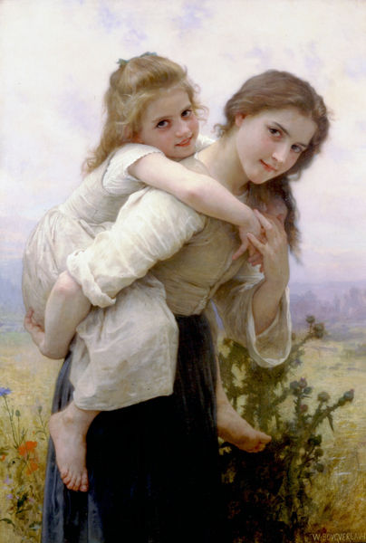 William-Adolphe Bouguereau-Not Too Much To Carry