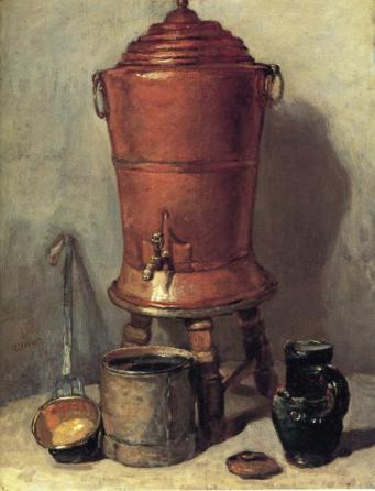 Jean-Baptiste-Siméon Chardin - The Copper Water Urn