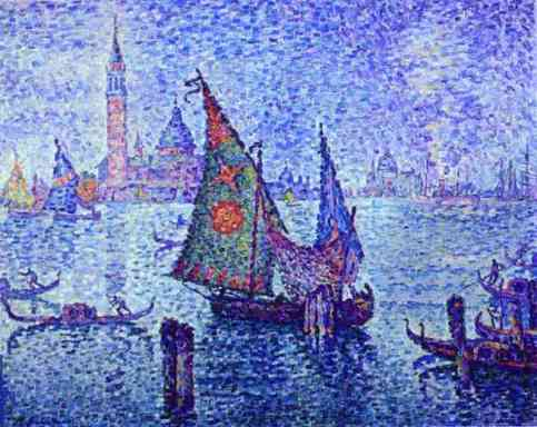 Paul Signac - The Green Sail, Venice