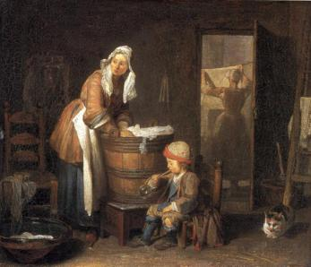 Jean-Baptiste-Siméon Chardin - The Laundress
