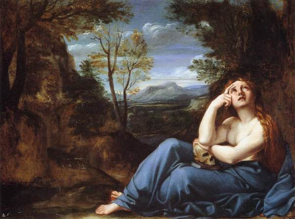 Annibale Carracci-The Penitent Magdalen in a Landscape