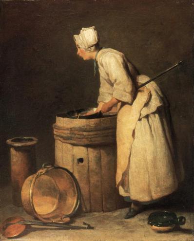Jean-Baptiste-Siméon Chardin - The Scullery Maid