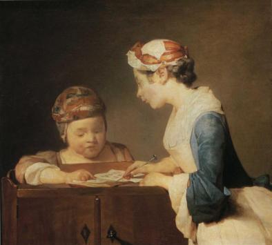 Jean-Baptiste-Siméon Chardin - The Young Schoolmistress