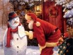 santa-snowman