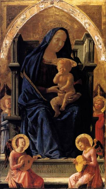Masaccio - Madonna with Child and Angels