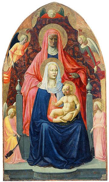 Masaccio - The Madonna and Child with Saint Anne
