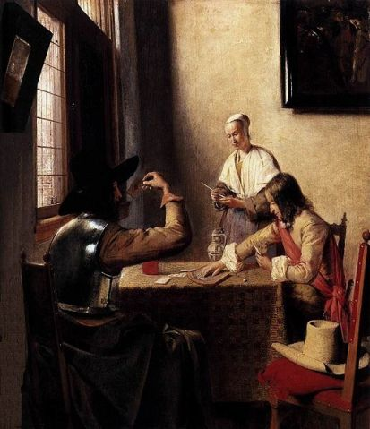 Pieter de Hooch - Soldiers Playing Cards