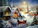 Village Christmas night