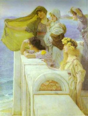 Sir Lawrence Alma-Tadema - At Aphrodite's Cradle