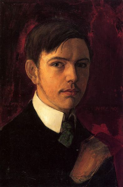 August Macke - Self-portrait, 1906