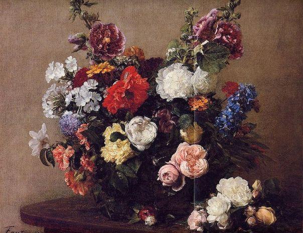 Henri Fantin-Latour - Bouquet of Diverse Flowers