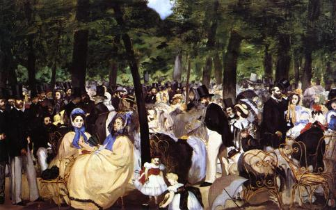 Édouard Manet - Music in the Tuileries – 1862